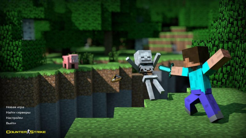 Counter Strike 1.6 Minecraft